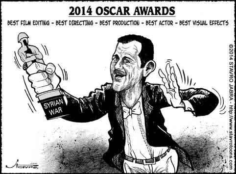 stavro- 2014 Oscar awards-Syrian war - Best film editing, best directing and best production