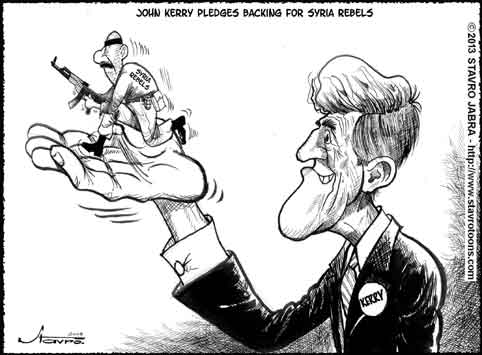 stavro-John Kerry pledges backing for Syria rebels