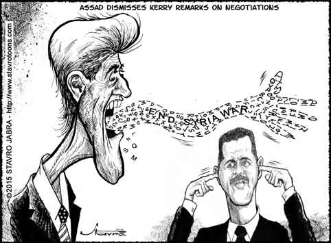 stavro- Assad dismisses Kerry remarks on negotiations