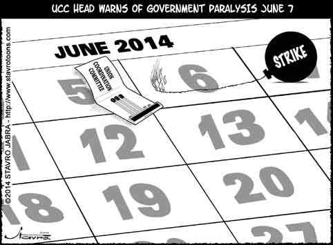 stavro - UCC head warns of government paralysis June 7