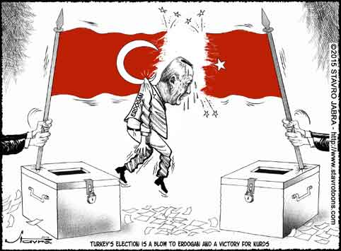stavro- Turkey's election is a blow to Erdogan and a victory for kurds.