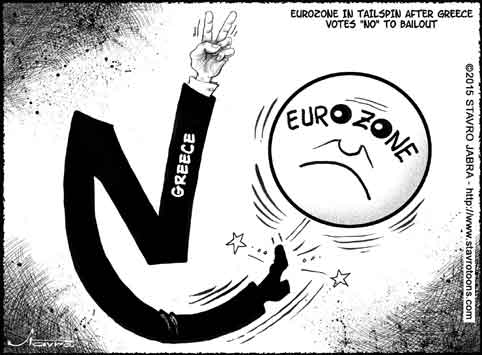 stavro-Eurozone in tailspin after Greece votes