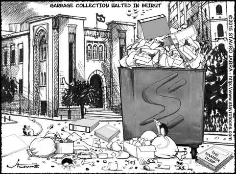 stavro-Garbage collection halted in Beirut.