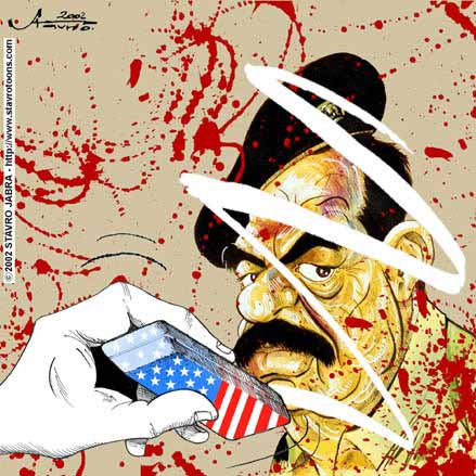stavro 090302 s - Saddam Hussein's regime is the interest of U.S..jpg