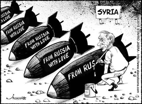 stavro-Putin's military intervention in Syria.
