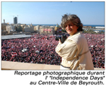 Reportage photographique durant l'independance days au centre ville beyrouth